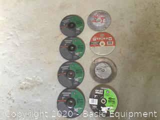 "ASSORTMENT OF 7"" GRINDING AND CUT OFF WHEELS"