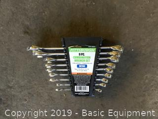PITTSBURGH 9PC COMBO METRIC WRENCH SET
