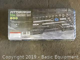 PITTSBURGH 51PC SOCKET SET
