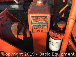 "RICHMOND MANUFACTURING CO HORIZONTAL BORING EQUIPMENT with 80 FT of 4"" Auger bits"