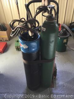 Torch Set With Tank And Extra Hoses