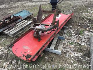 """96"""" METAL SNOW BLADE WITH LIFT CYLINDER"""