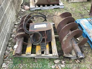 Mustang Skidsteer Auger With Bits