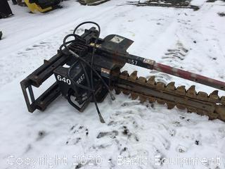 BRADCO 640 SKIDSTEER TRENCHER