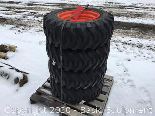 NEW 10-16.5 SKID STEER TIRE AND WHEELS