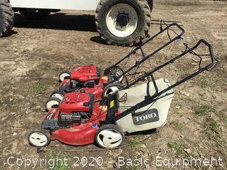 2-TORO PUSH MOWERS