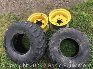 2-25X11-10 TIRES AND RIMS