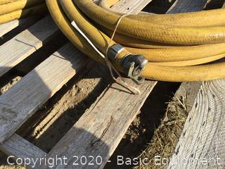 TWO 50 FOOT AIR HOSES