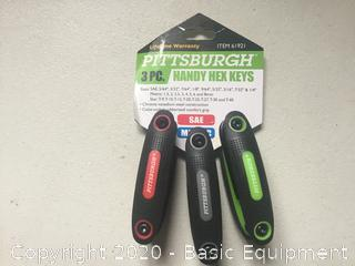 PITTSBURGH 3PC HANDY HEX KEYS