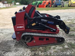 2015 TORO DINGO TX1000 STAND ON SKIDSTEER