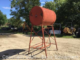 350 GALLON FUEL TANK ON STAND