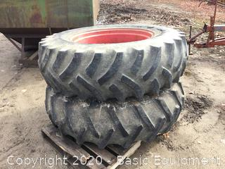 ARMSTRONG 18.4-34 TIRES ON RIMS