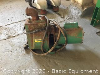 MYERS PUMP WITH 3/4 H.P. ELECTRIC MOTOR
