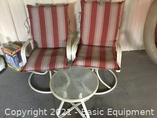 2-CHAIRS AND TABLE